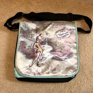 Disney Bags - Tinkerbell Neverland map messenger bag